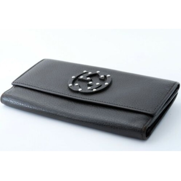 Gucci Handbags - Gucci Soho Studded Logo Leather Wallet